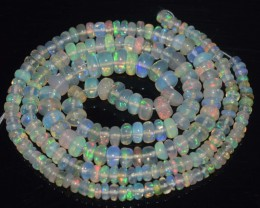 34.00 Ct Natural Ethiopian Welo Opal Beads Play Of Color