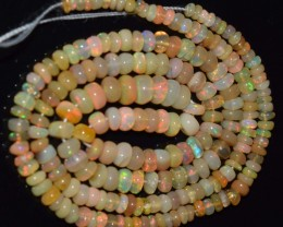 32.05 Ct Natural Ethiopian Welo Opal Beads Play Of Color