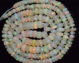 35.00 Ct Natural Ethiopian Welo Opal Beads Play Of Color