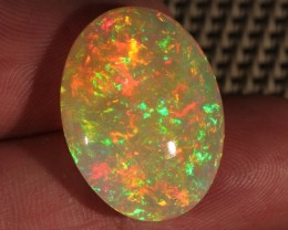 19.46CT~BRILLIANT 5/5 WELO OPAL CAB~FULLY SATURATED SUN OPAL