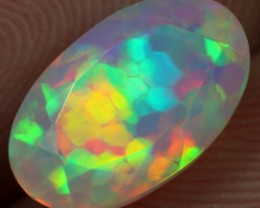 FACETED AAA 2.50cts SNAKE SKINI HONEYCOMB Natural Ethiopian Welo Opal