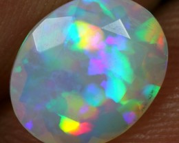 FACETED 0.90cts AAA PARROT FEATHER Natural Ethiopian Welo Opal