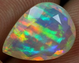 FACETED 2.60cts RAINBOW RIBBON Natural Ethiopian Welo Opal