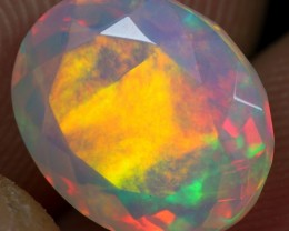 FACETED 2.70cts STRONG SUNRISE FIRE Natural Ethiopian Welo Opal