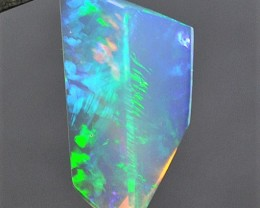 6.60ct ETHIOPIAN WELO INTENSE ELECTRIC BLUE AND GREEN HOT ICE GEM OPAL