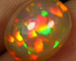 5.00cts BRILLIANT FIRE FLORAL Natural Ethiopian Welo Opal