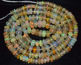 36.20 Ct Natural Ethiopian Welo Opal Beads Play Of Color