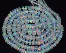 31.35 Ct Natural Ethiopian Welo Opal Beads Play Of Color