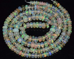 33.80 Ct Natural Ethiopian Welo Opal Beads Play Of Color