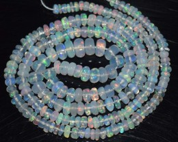 29.80 Ct Natural Ethiopian Welo Opal Beads Play Of Color