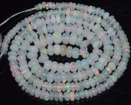 30.85 Ct Natural Ethiopian Welo Opal Beads Play Of Color