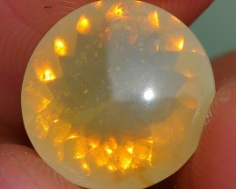 2.95 CRT FIRE OPAL FACETED YELLOWISH COLOR INDONESIAN OPAL