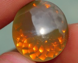 5.70 CRT FIRE OPAL FACETED STUNNING GREY BROWN COLOR INDONESIAN OPAL