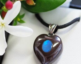 Valentines Day ,Lovers opal inlay Heart Pendant Su 18