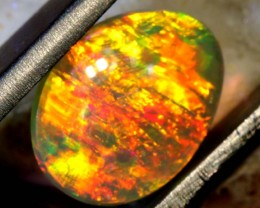 N4 1.25 CTS QUALITY BLACK SOLID OPAL LIGHTNINGRIDGE INV-921