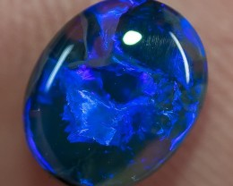 BLACK OPAL LIGHTNING RIDGE SOLID 1.32ct GEM $1 N/R AUCTION BOPA150118