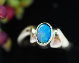 Doublet opal Silver Ring with a ring box SU 84