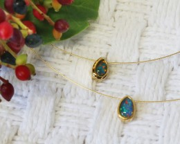 Beautiful Gold plated with Triplet opal SU 86