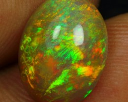 2.70cts DOUBLE FLASH FIRE Natural Ethiopian Welo Opal