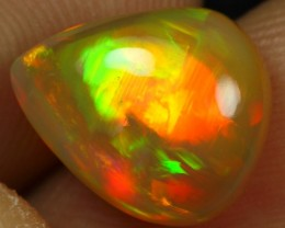 3.85cts STRONG NEON FIRE Natural Ethiopian Welo Opal