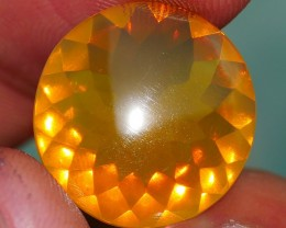 6.50 CRT FIRE OPAL FACETED YELLOWISH ORANGE BEAUTY COLOR INDONESIAN OPAL