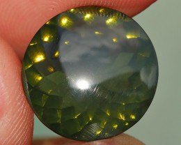 5.00 CRT FIRE OPAL FACETED CLEAR BASE GREEN COLOR INDONESIAN OPAL