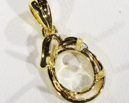 18k Gold setting    8x6 mm  Pendant SU 98