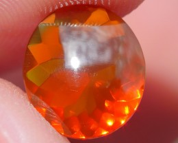 1.20 CRT FIRE OPAL FACETED BROWN RED COLOR INDONESIAN OPAL