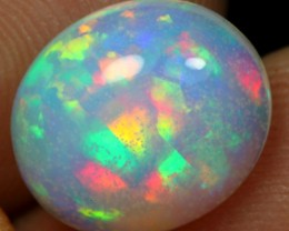 3.35cts AAA TOP Rainbow Ribbon Color Play Pattern Ethiopian Opal