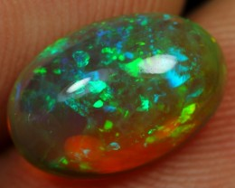 2.35cts Green Iridescence and Blue Fire Ethiopian Opal