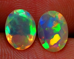 8X6 MM TOP QUALITY ETHIOPIAN CRYSTAL OPAL PAIR -AC173