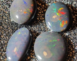 3.00 crt Rare !!! Parcel Water Fossil Indonesian Opal ( 4 Pcs)