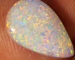 RARE 3.5ct 13x8mm Solid White Cliffs Dark Opal [LO-980]