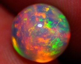 One of a Kind !! 8 mm Round Fire Ball Welo Ethiopia Opal