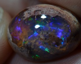 26.10ct Mexican Landscape Fire Colors Mexican Natural Matrix Opal