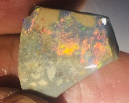 BLACK ROUGH RUBBED BY MINER  6.65 CARATS JO 68