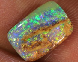 3.4ct 12x8mm Pipe Wood Fossil Boulder Opal  [LOB-1174]