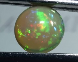 1.0 ct $1 NR Beautiful Rainbow Color Round Welo Cab