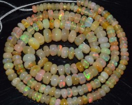 37.90 Ct Natural Ethiopian Welo Opal Beads Play Of Color