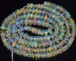 34.65 Ct Natural Ethiopian Welo Opal Beads Play Of Color