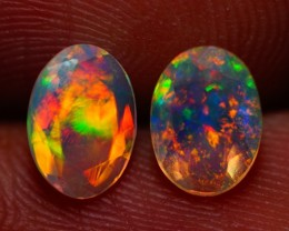 7x5 MM AAA QUALITY ETHIOPIAN CRYSTAL OPAL PAIR -AB381