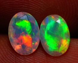 7x5 MM TOP QUALITY ETHIOPIAN CRYSTAL OPAL PAIR -AB382