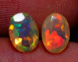 7x5 MM AAA QUALITY ETHIOPIAN FACETED OPAL PAIR -AB393