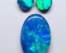 Australian Doublet Opal 3 Stone Parcel Set