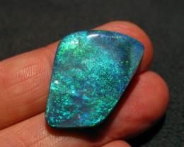 Magnificent Australian Lightning Ridge Black Opal. Beautiful Green and Blue