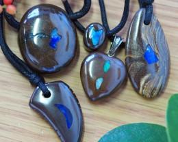 Parcel 5  opal inlay Pendant SU 358