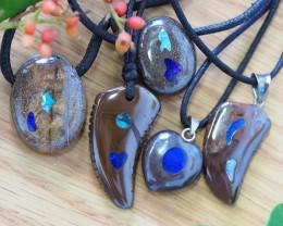 Parcel 5  opal inlay Pendant SU 359