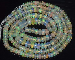 30.65 Ct Natural Ethiopian Welo Opal Beads Play Of Color