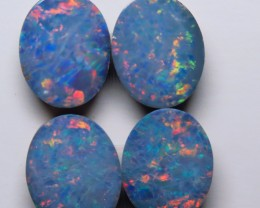 Australian Doublet Opal 2 x Pair 10x8mm parcel