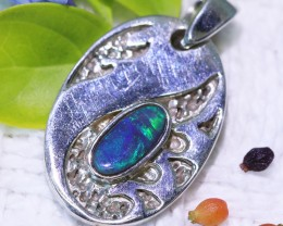 WAVE DESIGN BLACK OPAL PENDANT 1.20 CTS  MY 795